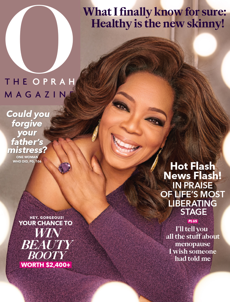Cover of The Oprah Magazine in which TJG Product is Featured