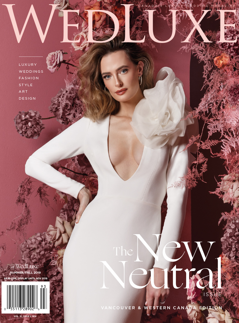 Cover of WedLuxe Magazine in which TJG Product is Featured