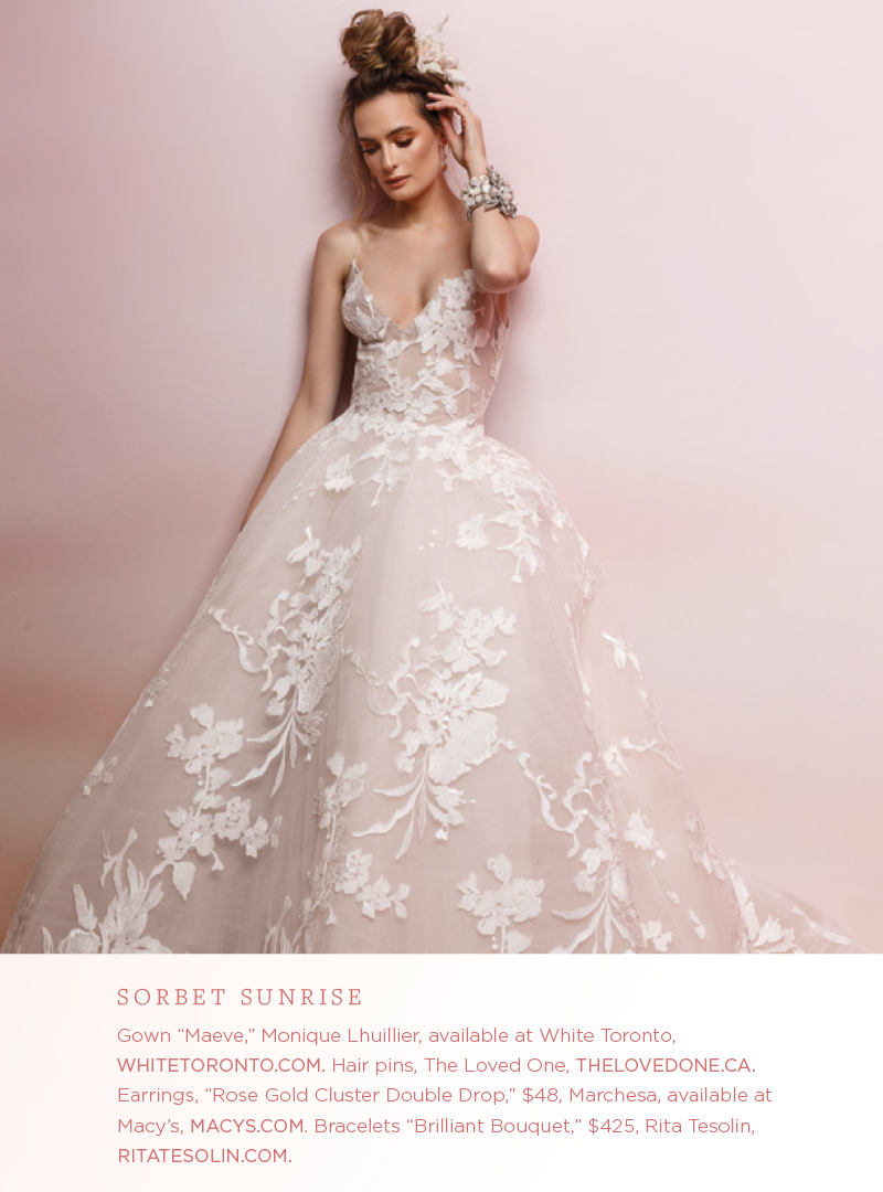 TJG Product featured in Spread of WedLuxe Magazine